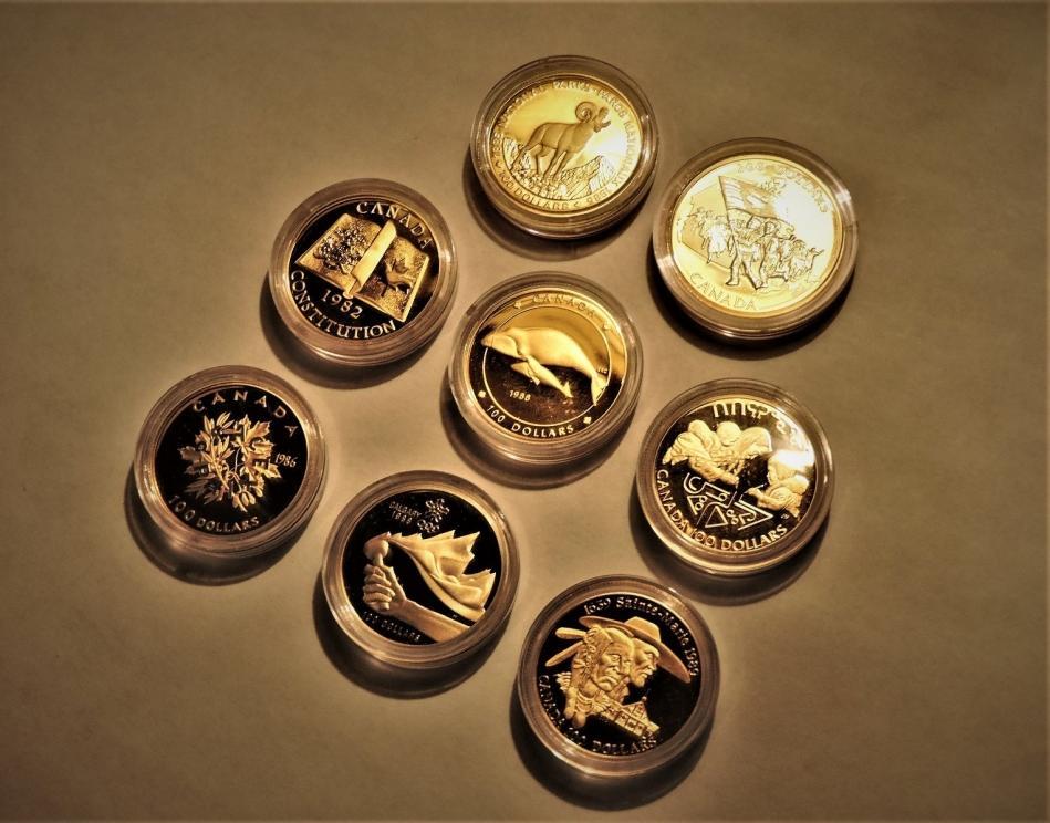 Eight Premium Canadian Gold Coins