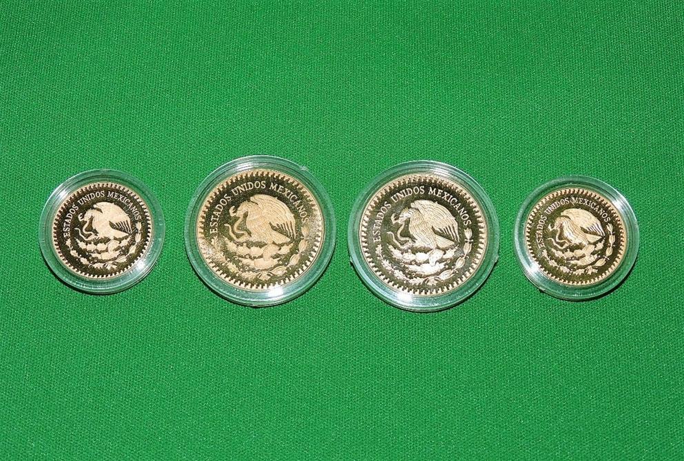 BANCO DE MEXICO OFFICIAL MEXICO 86 FOUR COIN COLLECTION