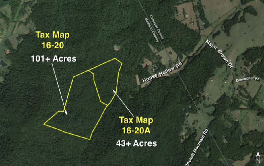 Madison County Tax Maps 144 +/  Acres: 2 Adjacent Timber Tracts in Madison County, VA—101